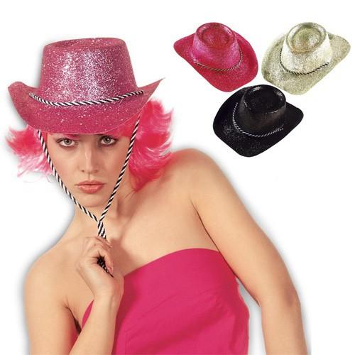 Chapeau cowboy pailleté