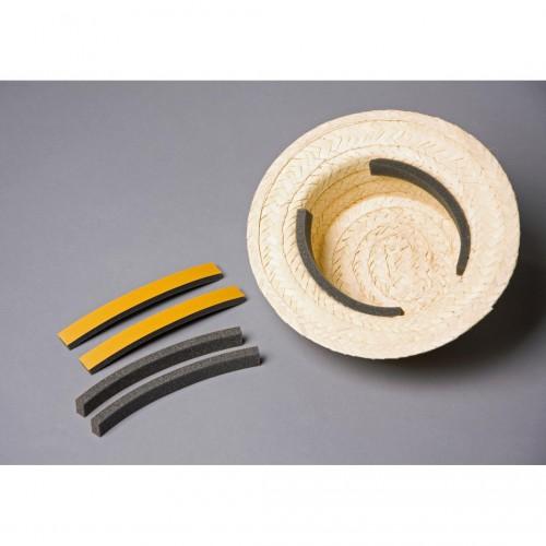 Mousse adhésive pour chapeau