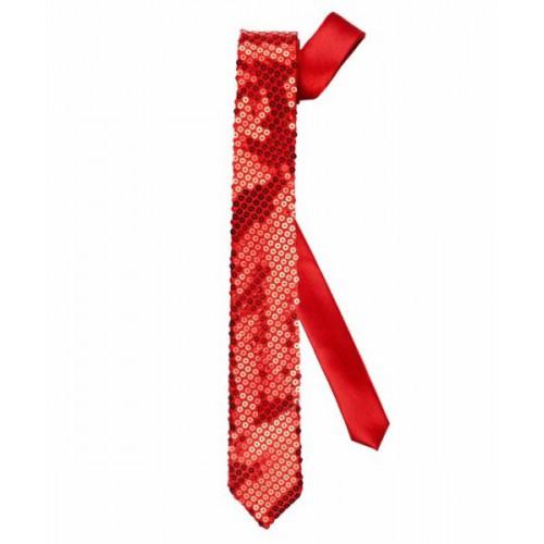 Cravate pailletée rouge