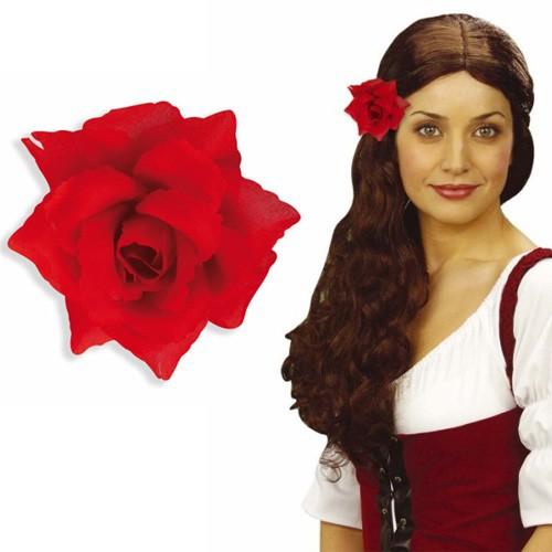 Rose rouge sur pince