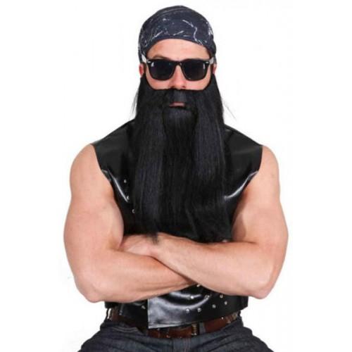 Barbe noire biker