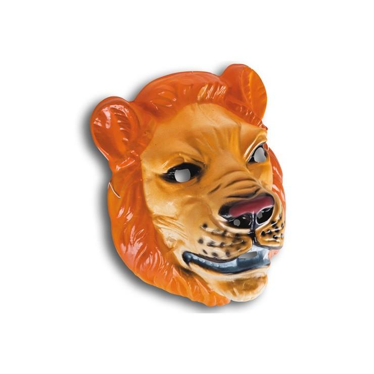 Masque lion plastique