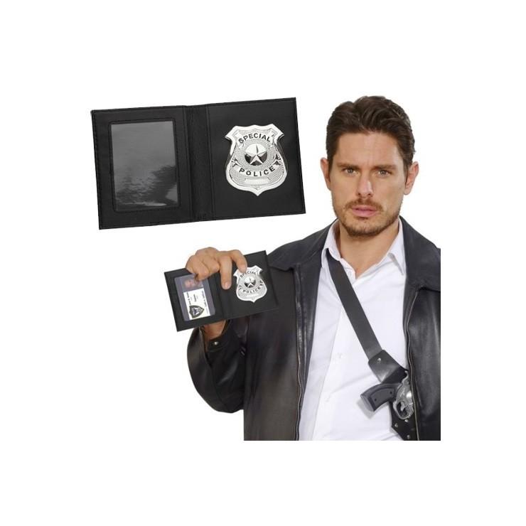 Insigne police avec étui