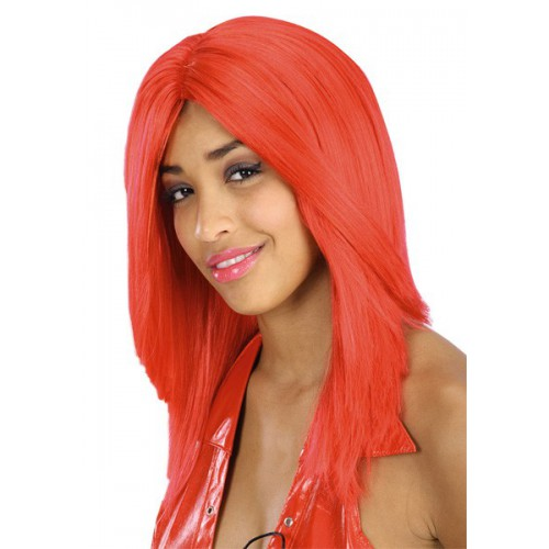 Perruque lisse rouge