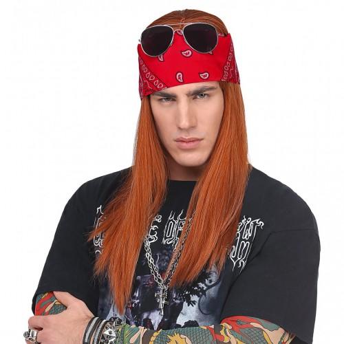 Perruque Axel avec bandana et lunettes