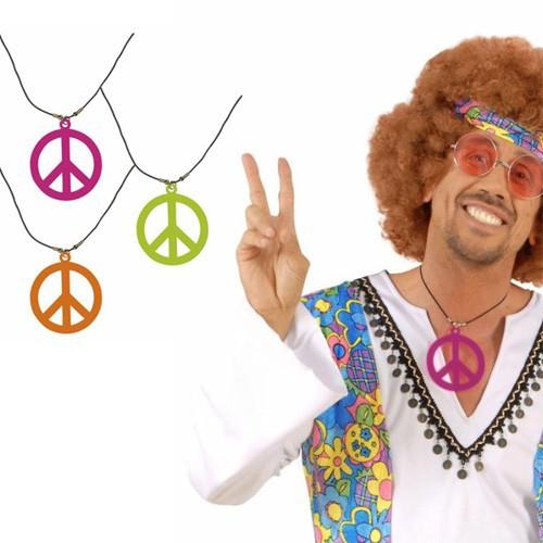 Collier hippie fluo