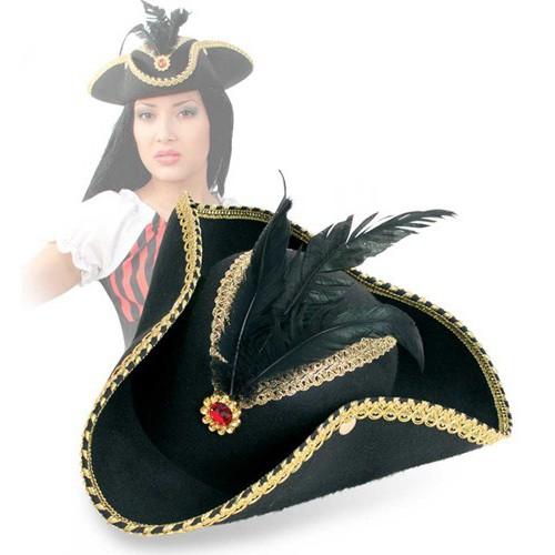 Tricorne femme pirate