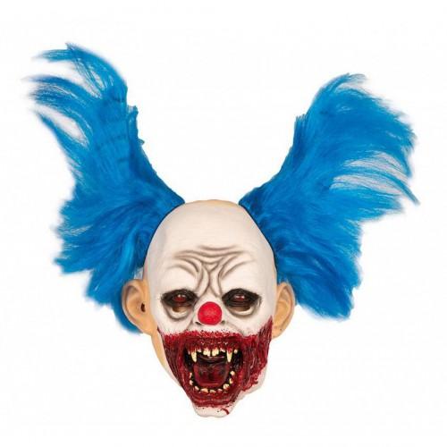 Masque Clown Cornes Bleues
