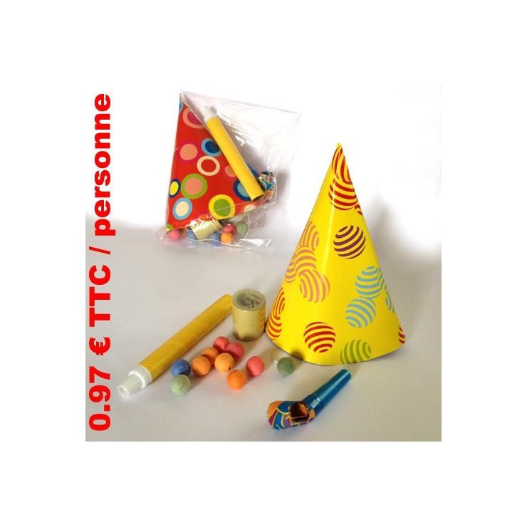 25 pochettes multicolore 1 personne