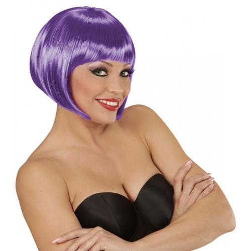 Perruque violette Chanel