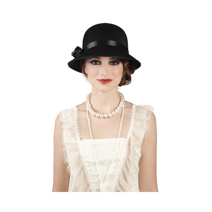 Cloche Charleston lady noir