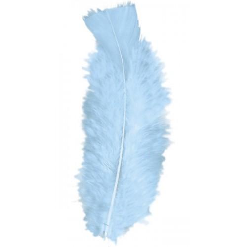 50 plumes turquoises 10 cm