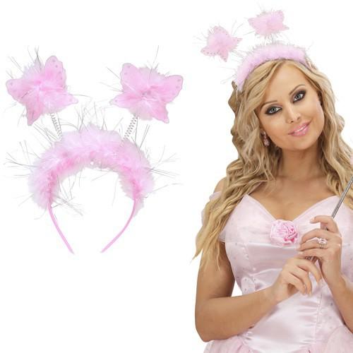 Serre-tête papillons roses