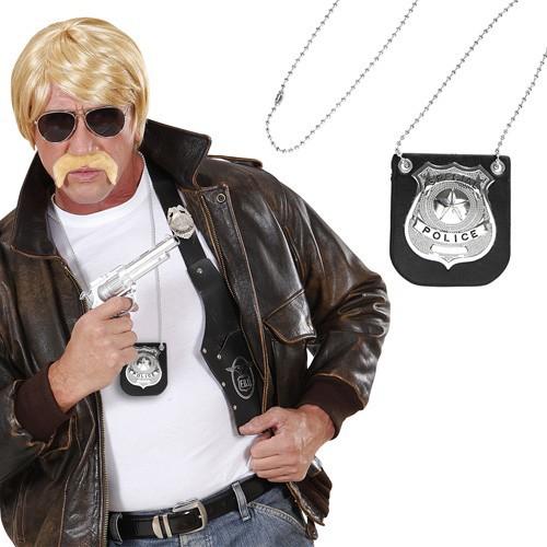 Collier badge de policier