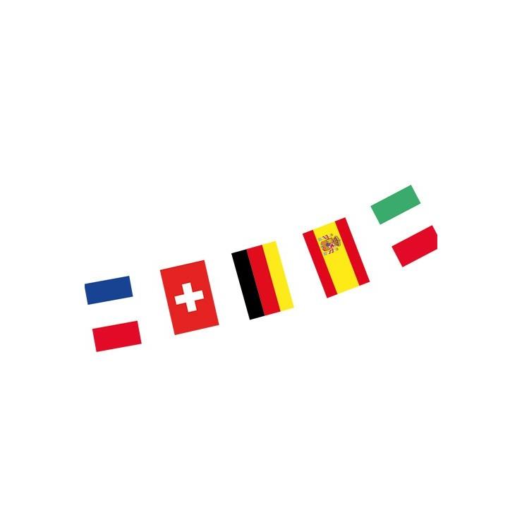 Guirlande Tissu 24 pays de la coupe d'Europe 8m