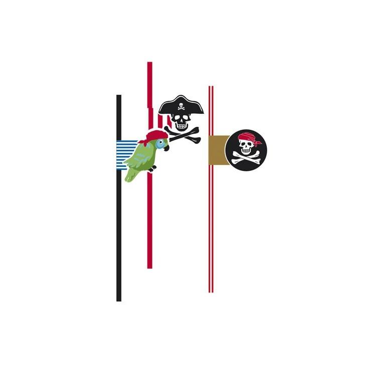 Pailles pirate x6
