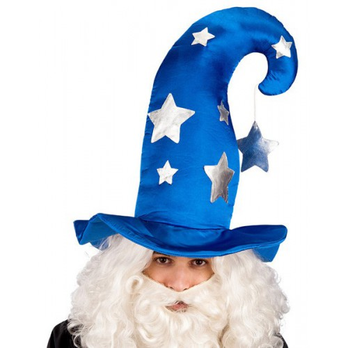 Chapeau de mage bleu