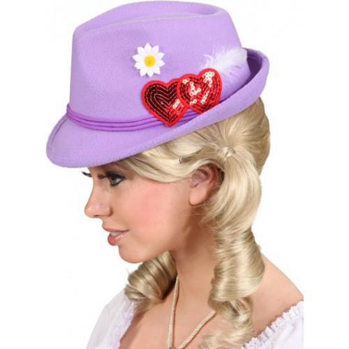 Chapeau Bavarois femme mauve