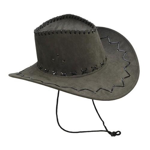 Chapeau cowboy suedine noir