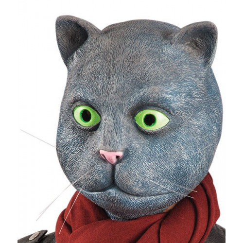 Masque chat gris