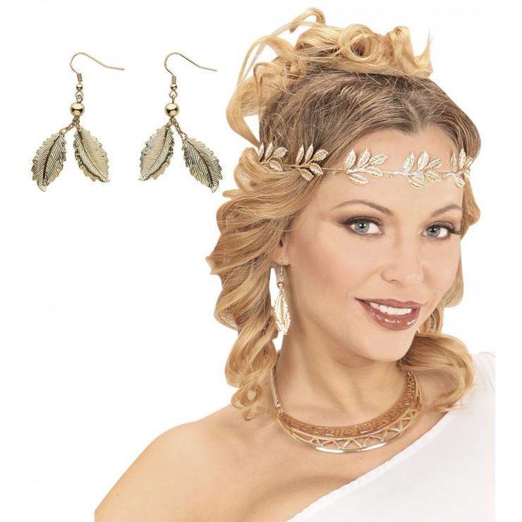 Boucles d'oreilles feuilles d'or