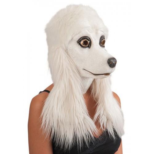 Masque caniche blanc
