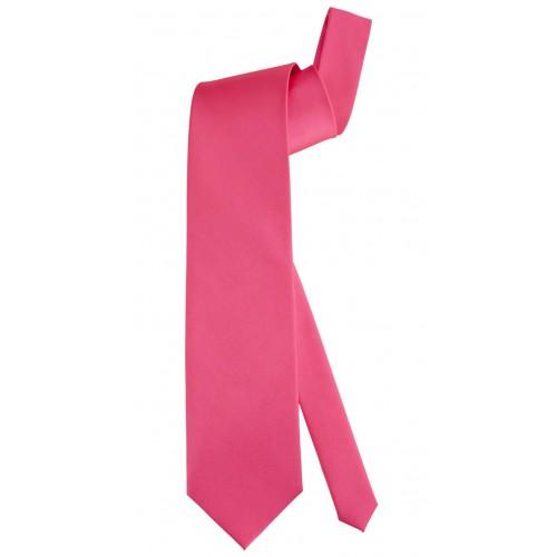 Cravate rose fluo