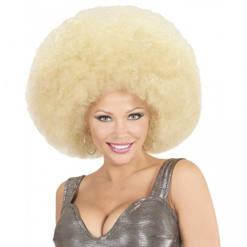 Perruque afro blonde extra volume