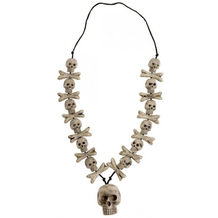 Collier crâne et os