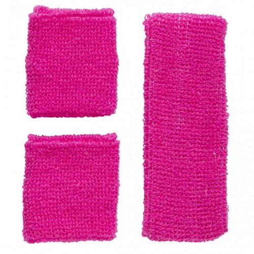 Bandeaux rose fluo années 80