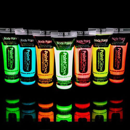 Tube maquillage fluo