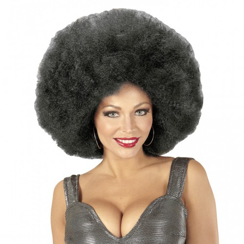 Perruque afro noire extra volume