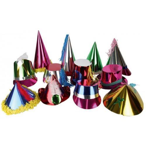 72 chapeaux métallisés
