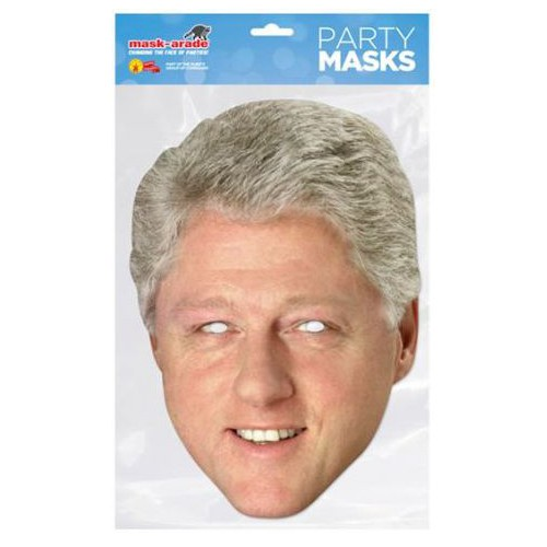 Masque carton Bill Clinton