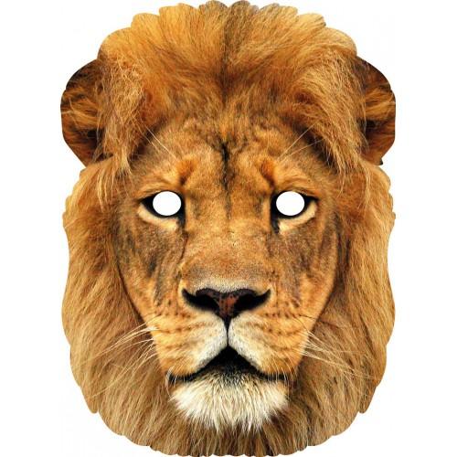Masque de lion en carton