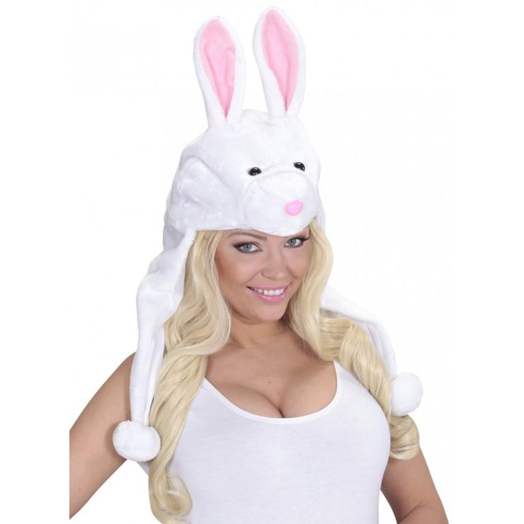 Chapeau lapin blanc