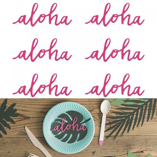 Deco papier Aloha x6