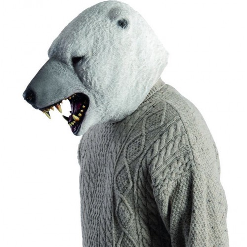 Masque d'ours blanc