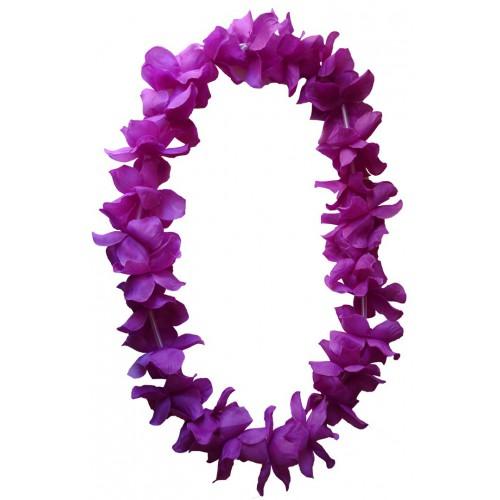 Collier Hawaïen violet