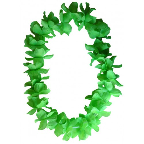 Collier Hawaïen vert x48