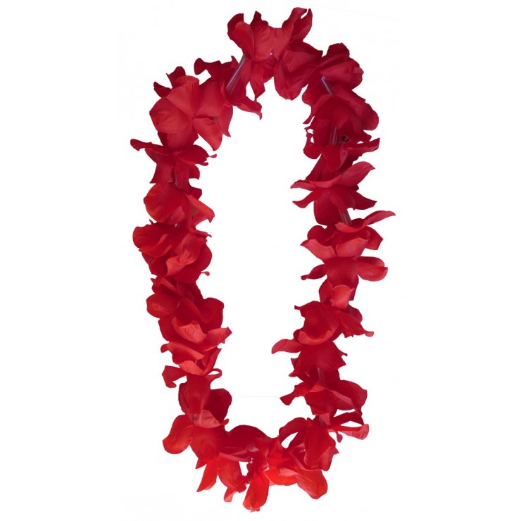 Collier hawaïen rouge x48