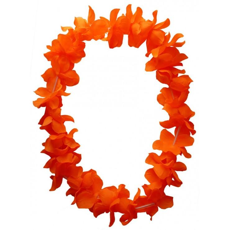 Collier hawaïen orange x48