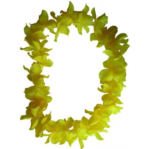 Collier hawaïen jaune x48