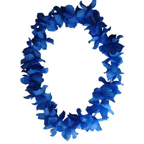 Collier hawaïen bleu x48