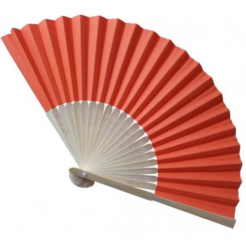 Eventail bambou orange