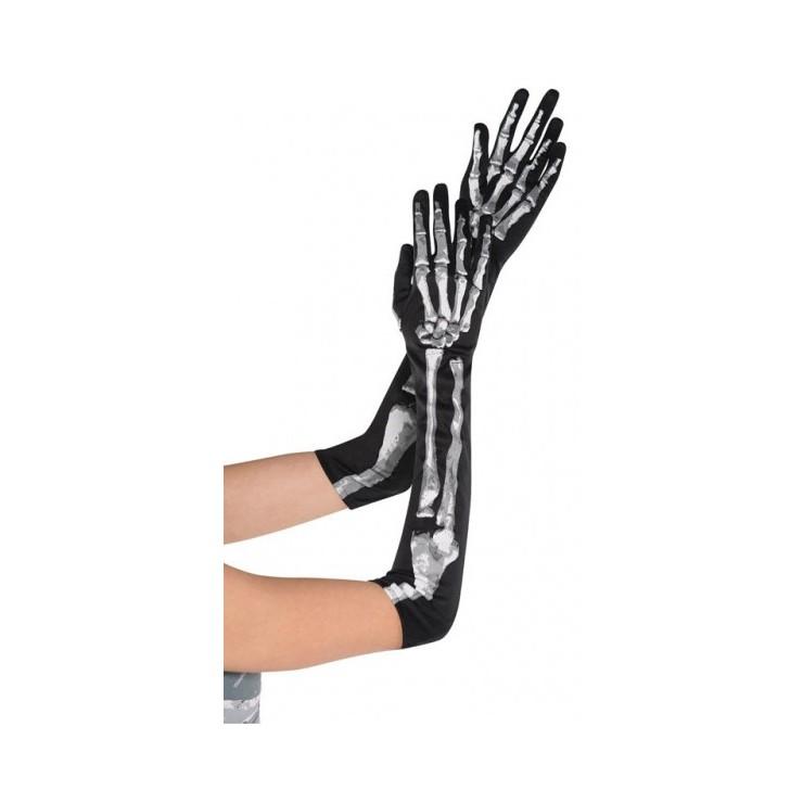 Longs gants squelette