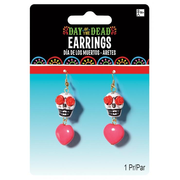 Boucles d'oreilles Calavera
