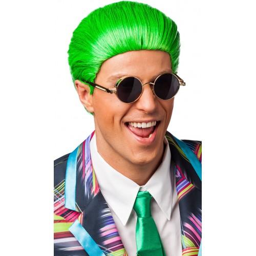 Perruque verte pour homme
