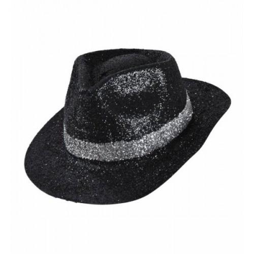 Chapeau Borsalino noir pailleté