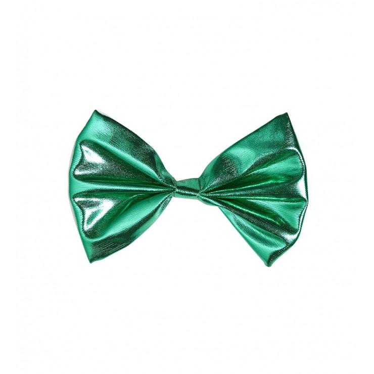 Noeud papillon vert métallisé